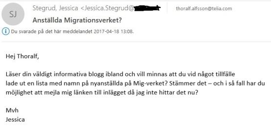 Jessica utan mejl