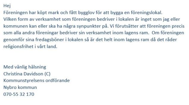 Moske mejl KSO Davidsson