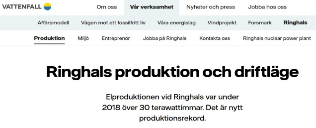 Ringshals prod
