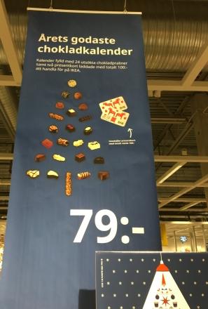 Chokladkalender 79 kronor