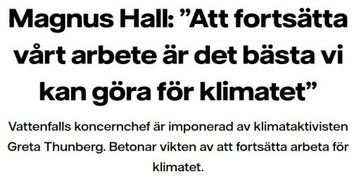 Magnus Hall klimatet