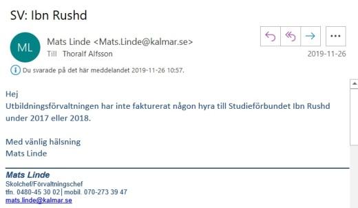 Mats Linde mejl 2