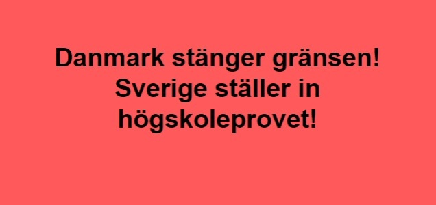 Danmark stänger gränsen