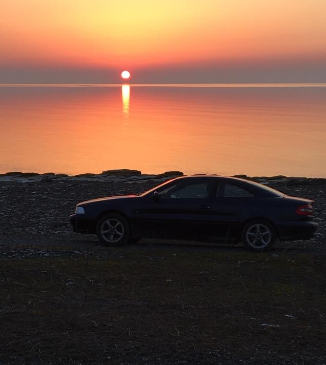 Solnedgång Volvo