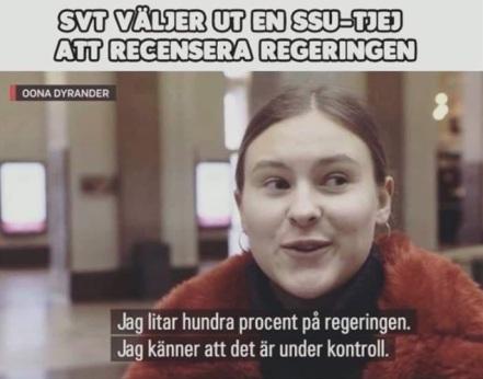 SSU tjej om regeringen och corona