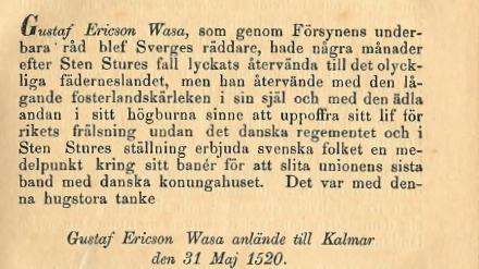 Sylvander om Vasa