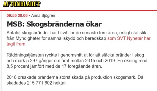 Skogsbränder Aftonbladet